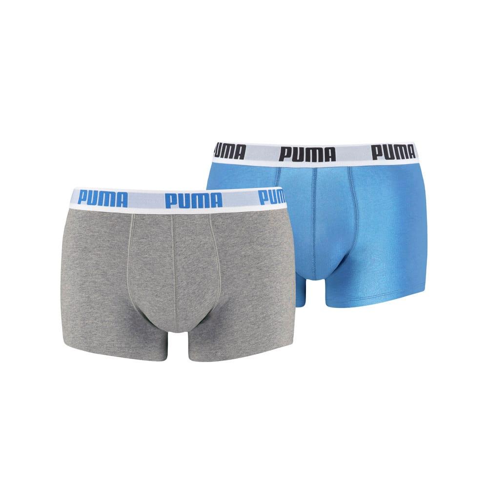 Изображение Puma Мужское нижнее белье 2 Pack Boxer Shorts #1: blue-grey