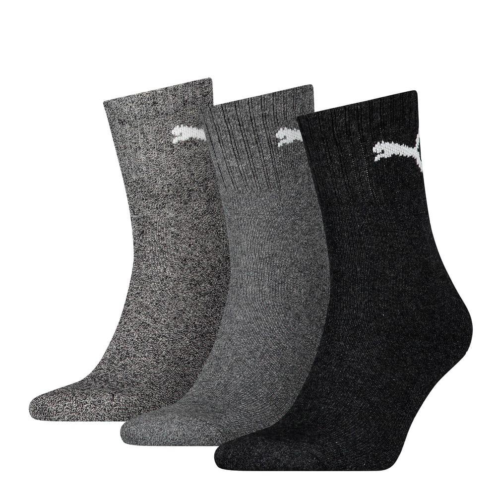 Зображення Puma Шкарпетки Unisex Short Crew Socks (3 Pack) #1: anthracite / grey