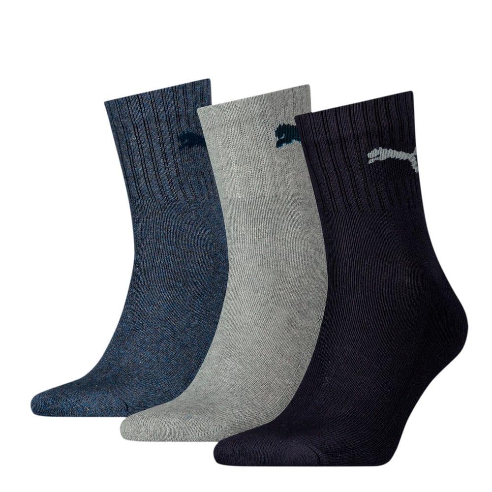 Изображение Puma Носки Unisex Short Crew Socks (3 Pack) #1: navy/grey/nightshadow blue
