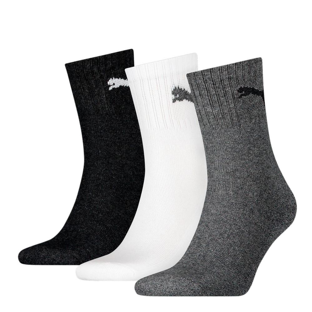 Зображення Puma Шкарпетки Unisex Short Crew Socks (3 Pack) #1: grey/white/black