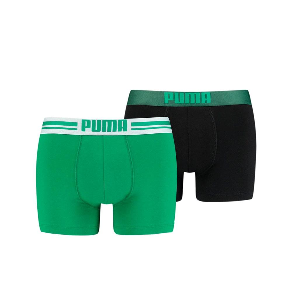 Изображение Puma Мужское нижнее белье Placed Logo Boxer Shorts 2 Pack #1: Green