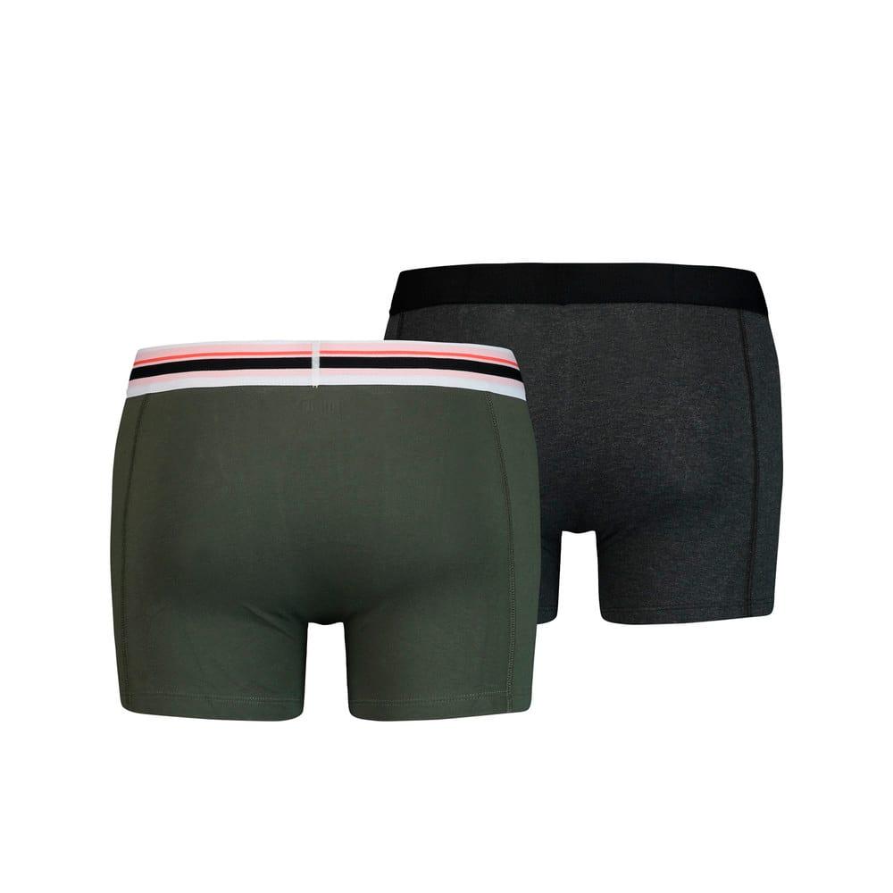 Изображение Puma Мужское нижнее белье Placed Logo Boxer Shorts 2 Pack #2