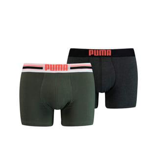 Зображення Puma Чоловіча спідня білизна Placed Logo Boxer Shorts 2 Pack