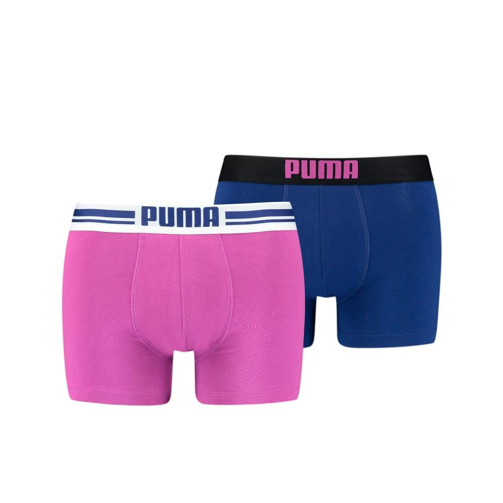 Изображение Puma Мужское нижнее белье Placed Logo Boxer Shorts 2 Pack #1