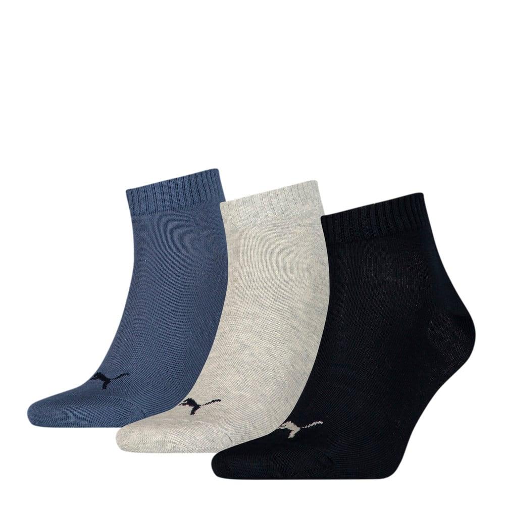 Зображення Puma Шкарпетки PUMA UNISEX QUARTER PLAIN 3P #1: navy/grey/nightshadow blue