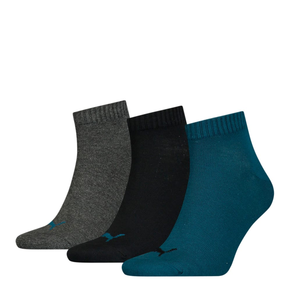 Зображення Puma Шкарпетки PUMA UNISEX QUARTER PLAIN 3P #1: blue / grey / black