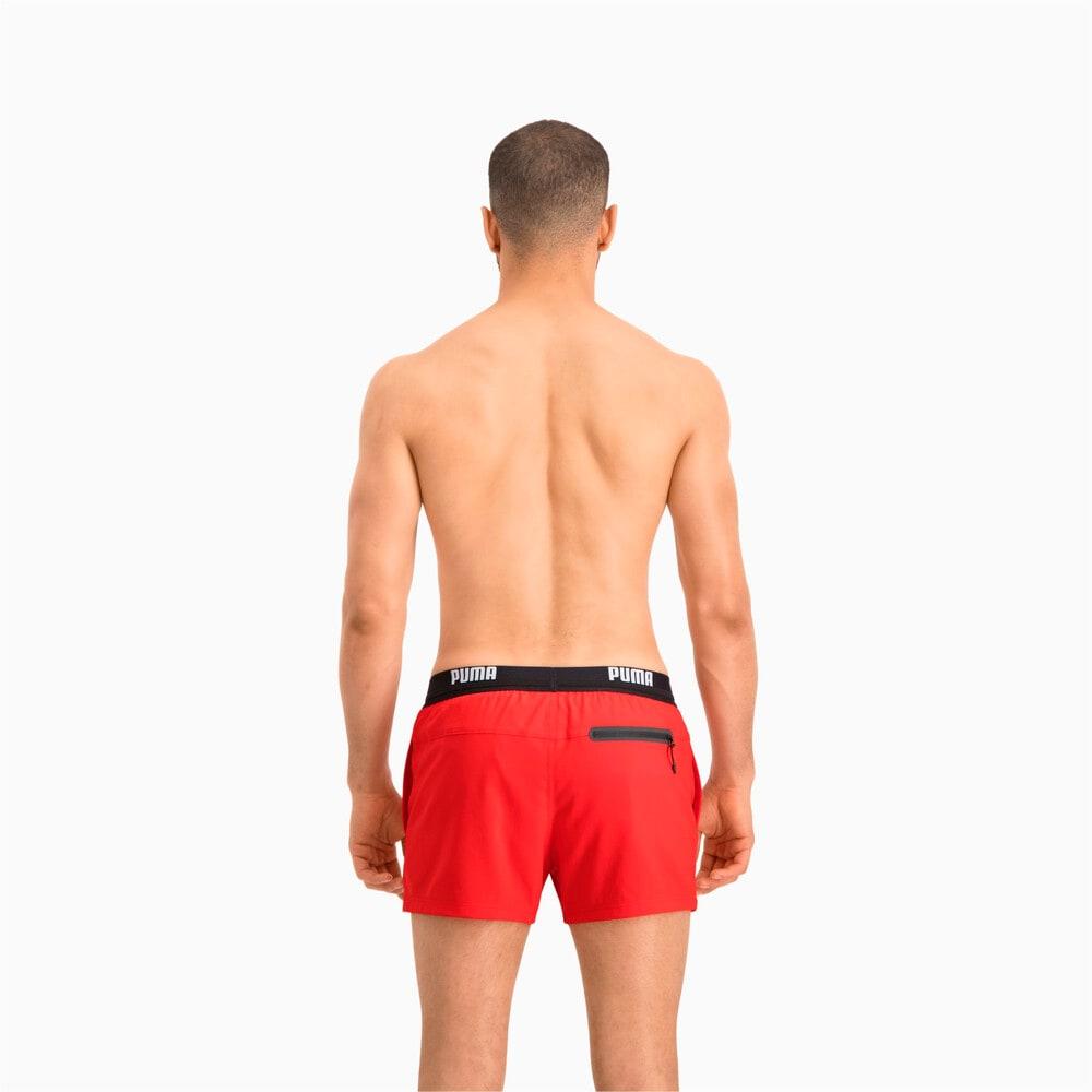 Зображення Puma Шорти для плавання PUMA Swim Men Logo Short Length Swim Shorts #2: Red
