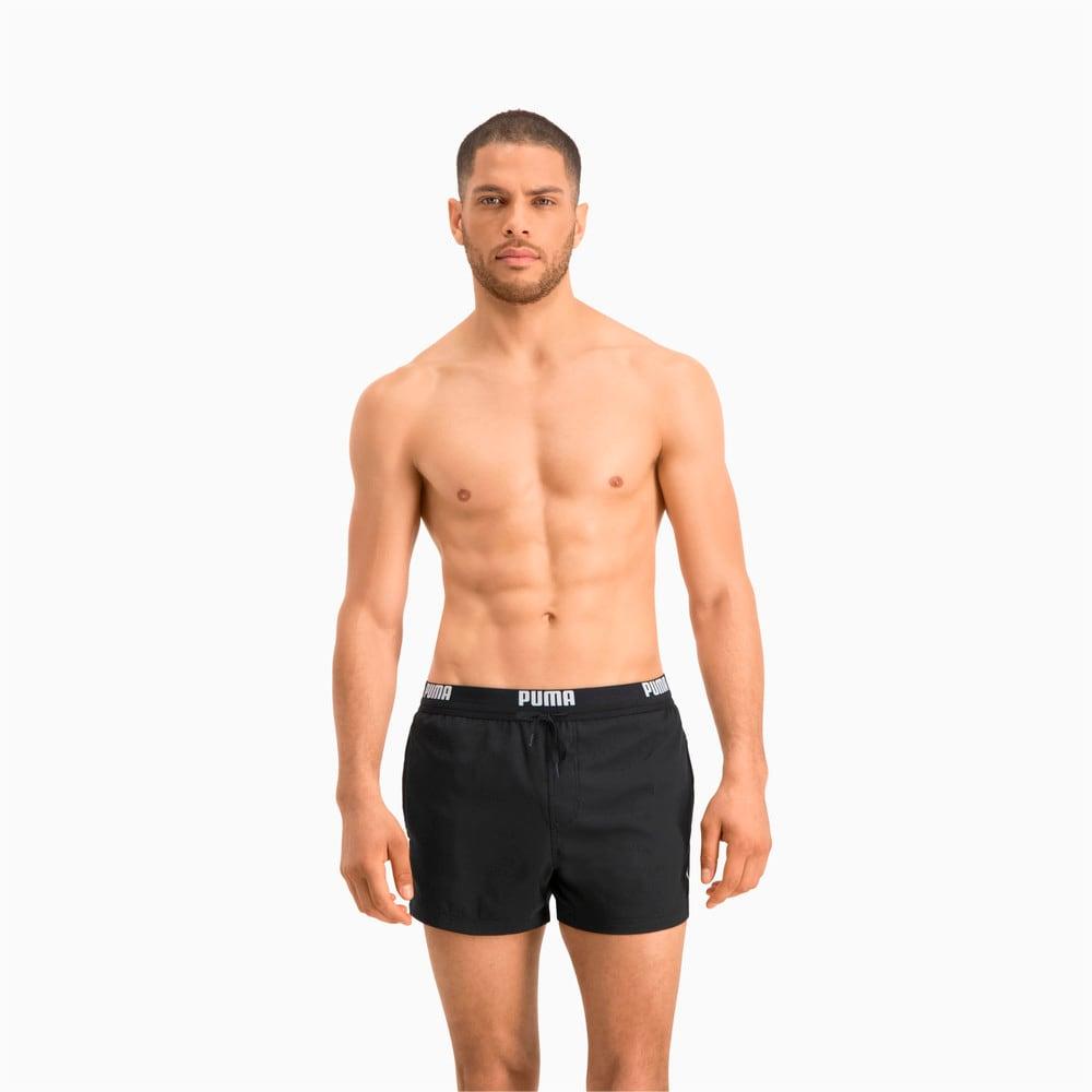 Зображення Puma Шорти для плавання PUMA Swim Men Logo Short Length Swim Shorts #1: black