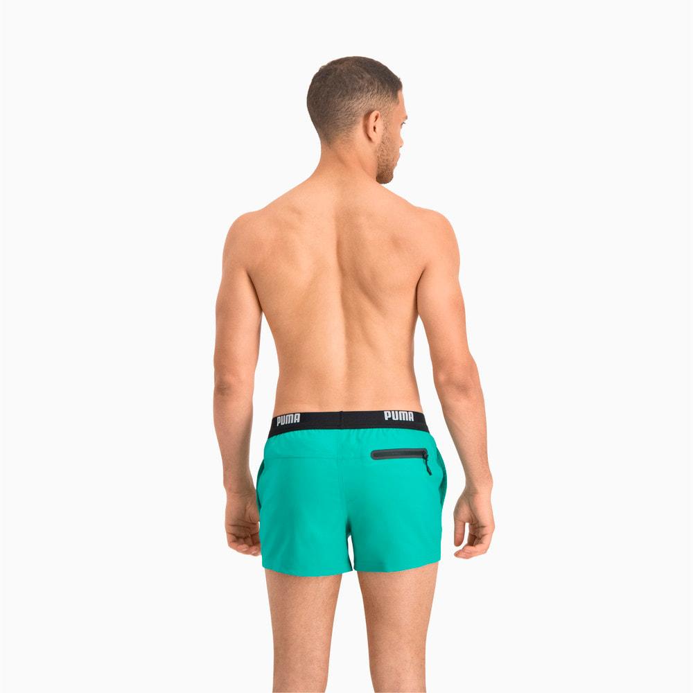 Image Puma Logo Men's Short Length Swimming Shorts #2