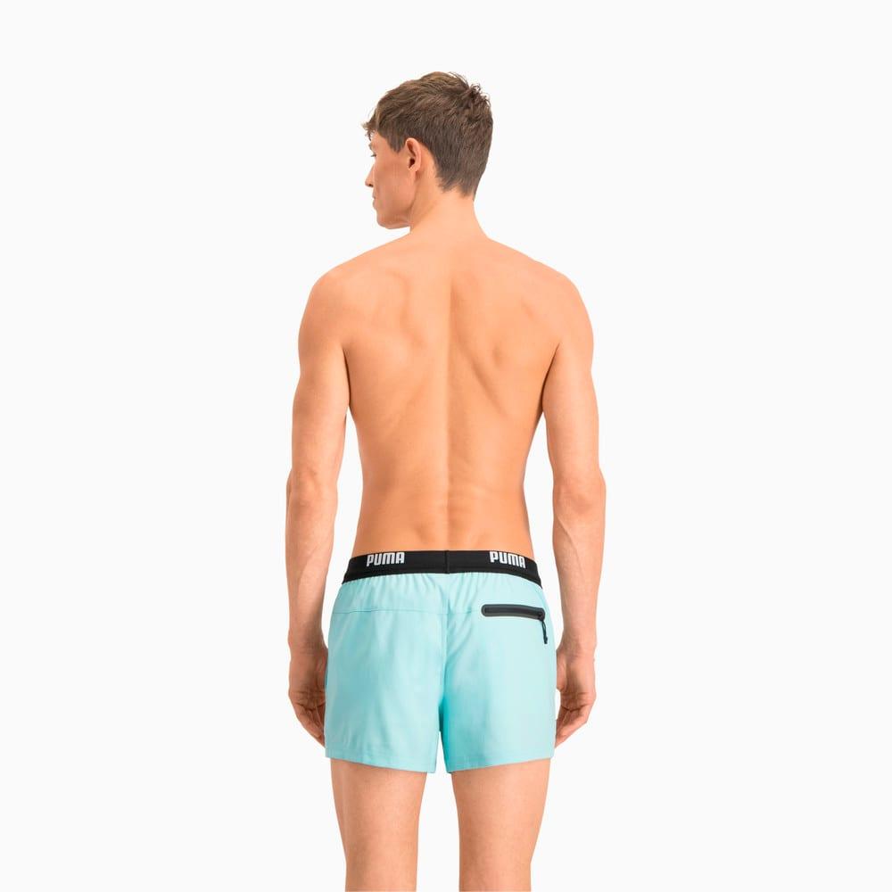 Зображення Puma Шорти для плавання PUMA Swim Men Logo Short Length Swim Shorts #2: Angel Blue