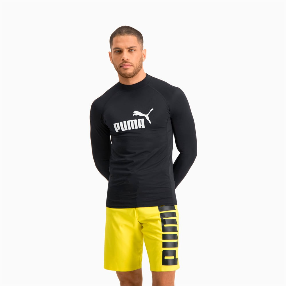 Изображение Puma Лонгслив PUMA Swim Men Long Sleeve Rash Guard #1: black