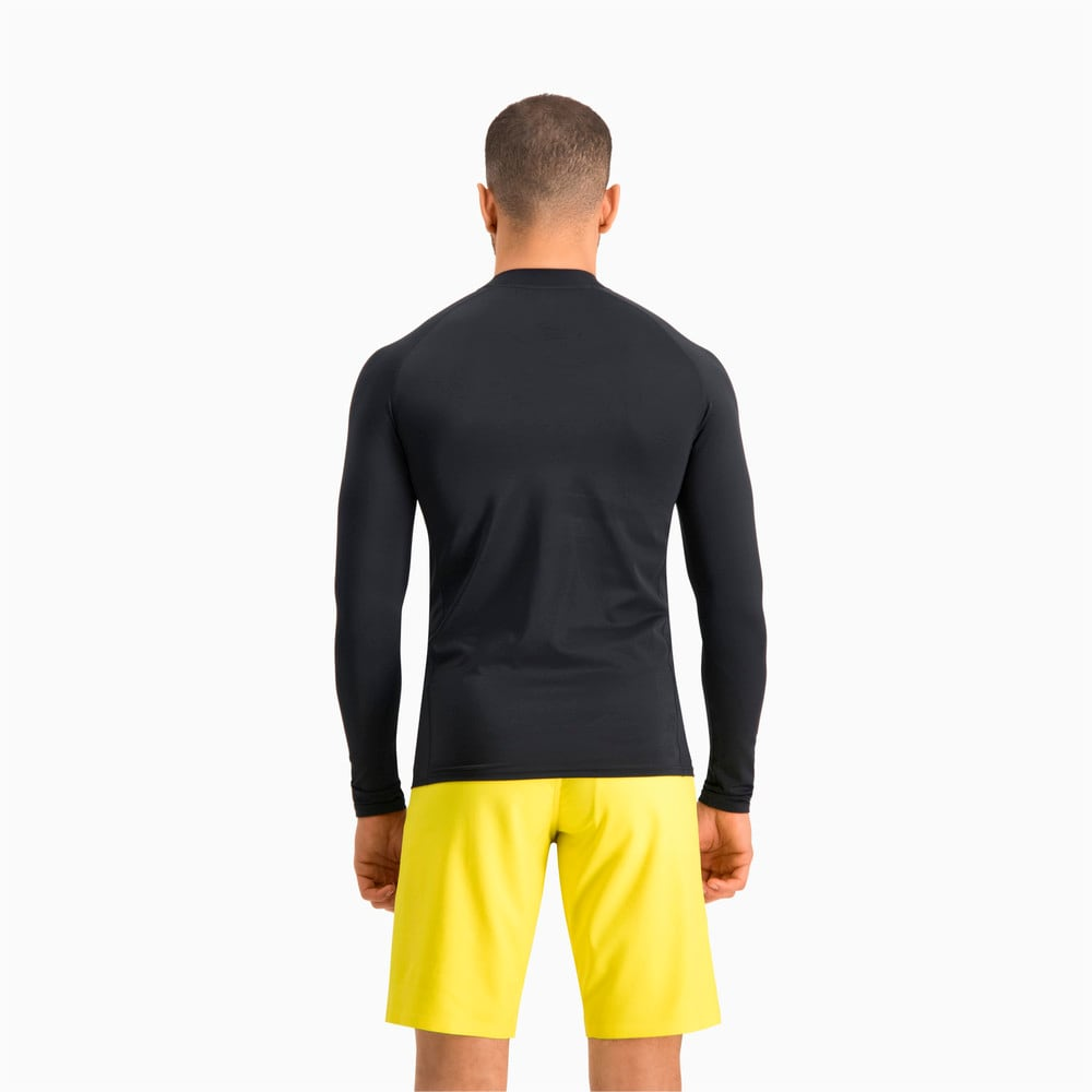 Изображение Puma Лонгслив PUMA Swim Men Long Sleeve Rash Guard #2: black