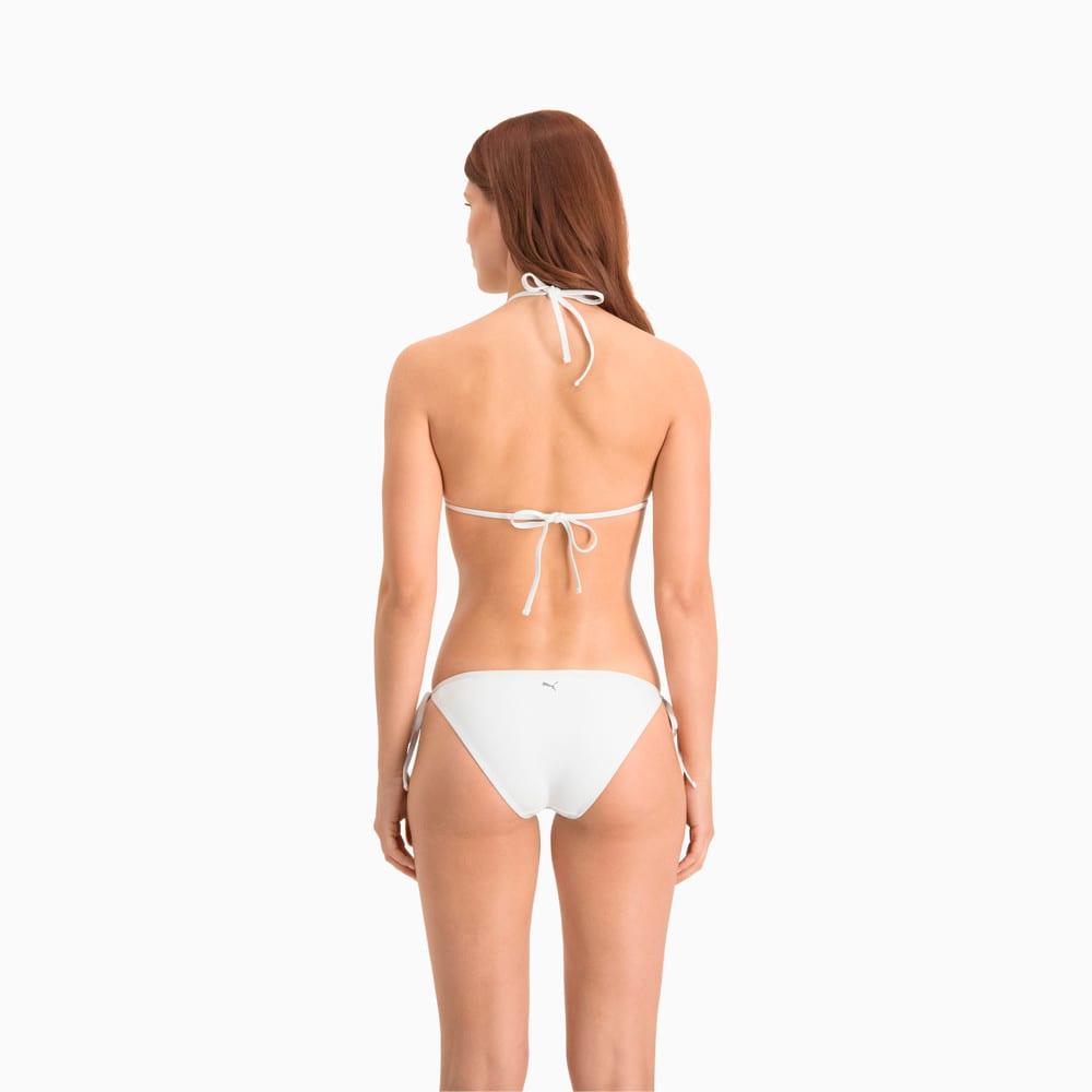 Зображення Puma Ліф для плавання PUMA Swim Women Triangle Bikini Top #2: White