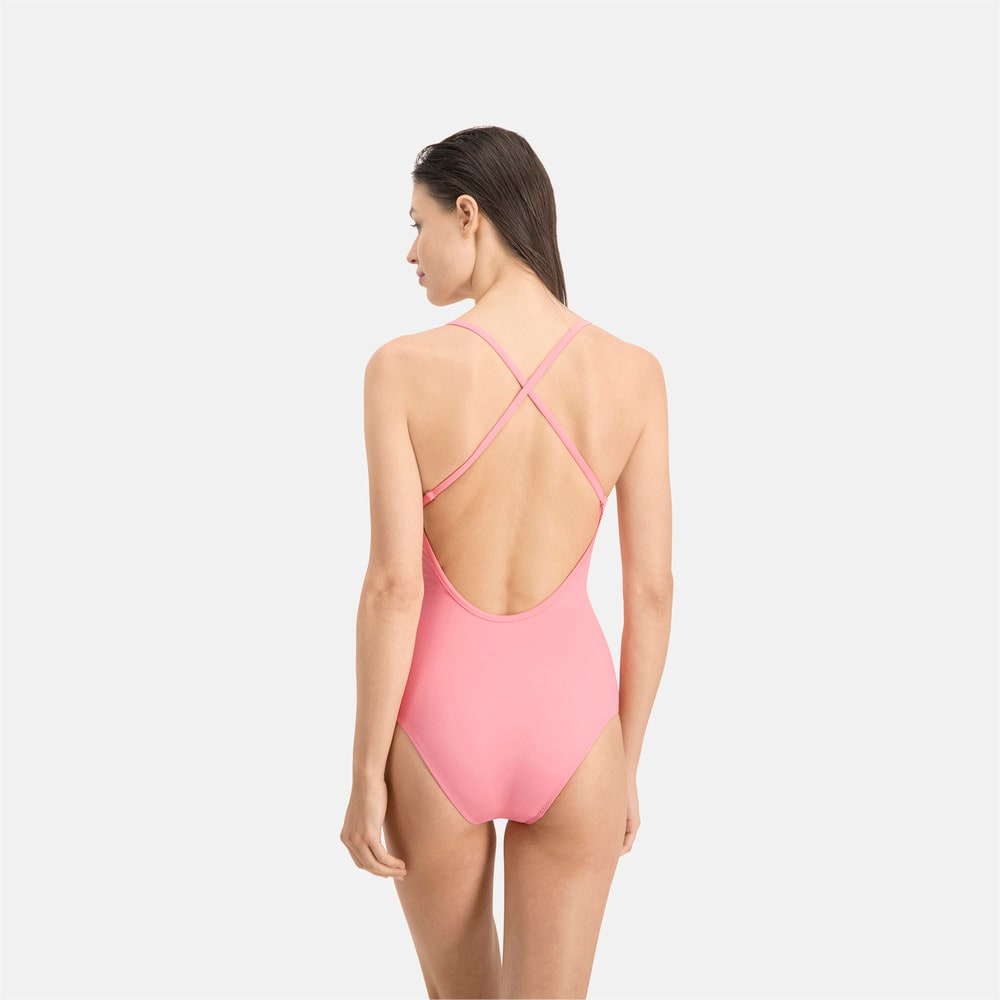 Зображення Puma Купальник PUMA Swim Women V-neck Crossback Swimsuit #2
