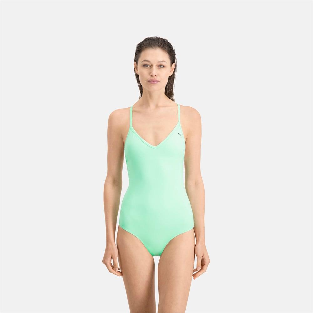 Изображение Puma Купальник PUMA Swim Women V-neck Crossback Swimsuit #1