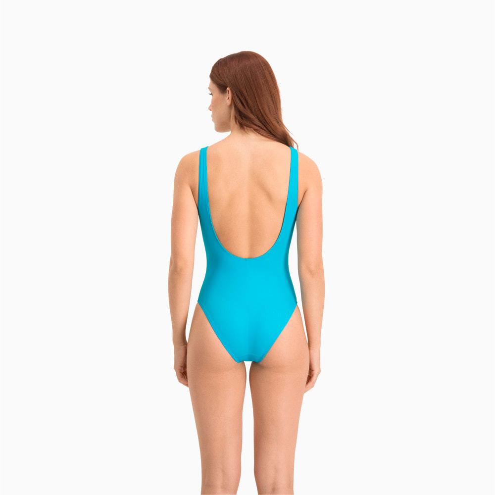 Изображение Puma Купальник PUMA Swim Women Swimsuit 1P #2: scuba blue