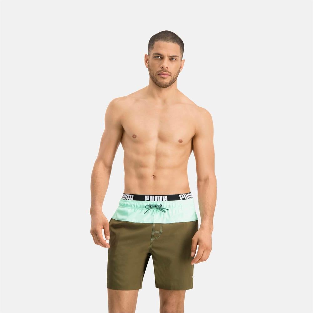 Зображення Puma Шорти для плавання PUMA Swim Men Logo Medium Length Swim Shorts #1