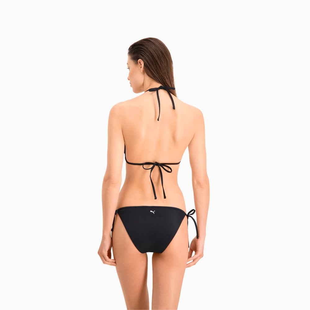 Изображение Puma Плавки PUMA Swim Women Side Tie Bikini Bottom #2: black