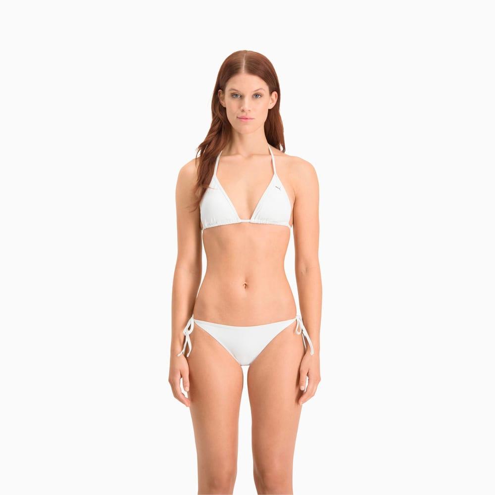 Изображение Puma Плавки PUMA Swim Women Side Tie Bikini Bottom #1: White