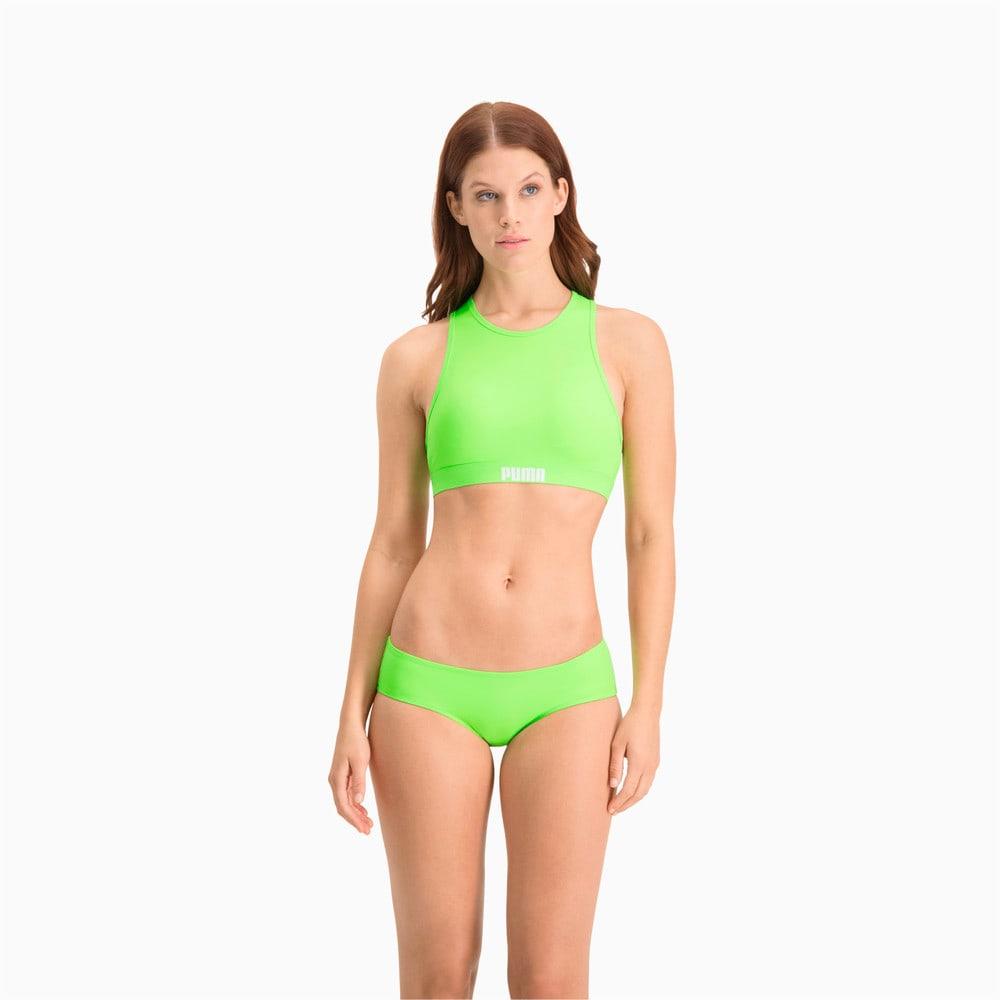 Изображение Puma Лиф для плавания PUMA Swim Women Racerback Swim Top #1: neon green