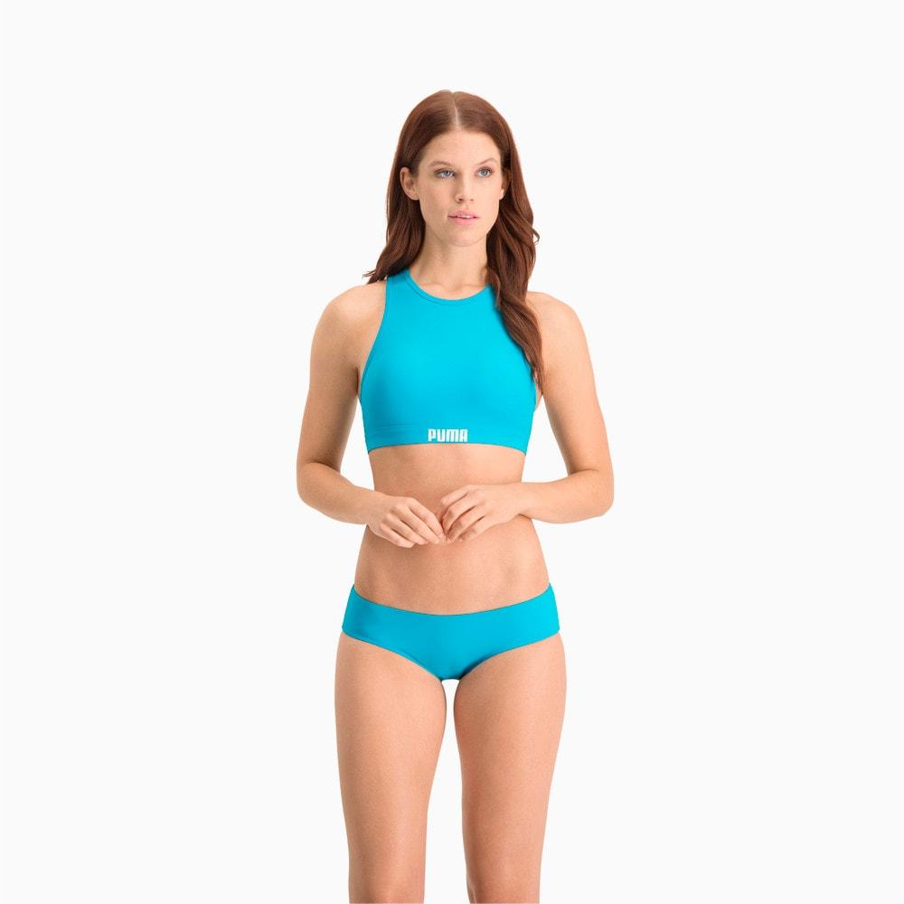 Зображення Puma Ліф для плавання PUMA Swim Women Racerback Swim Top #1: scuba blue