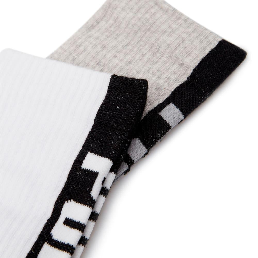 Изображение Puma Носки Seasonal Logo Men's Socks 2 Pack #2: white / grey