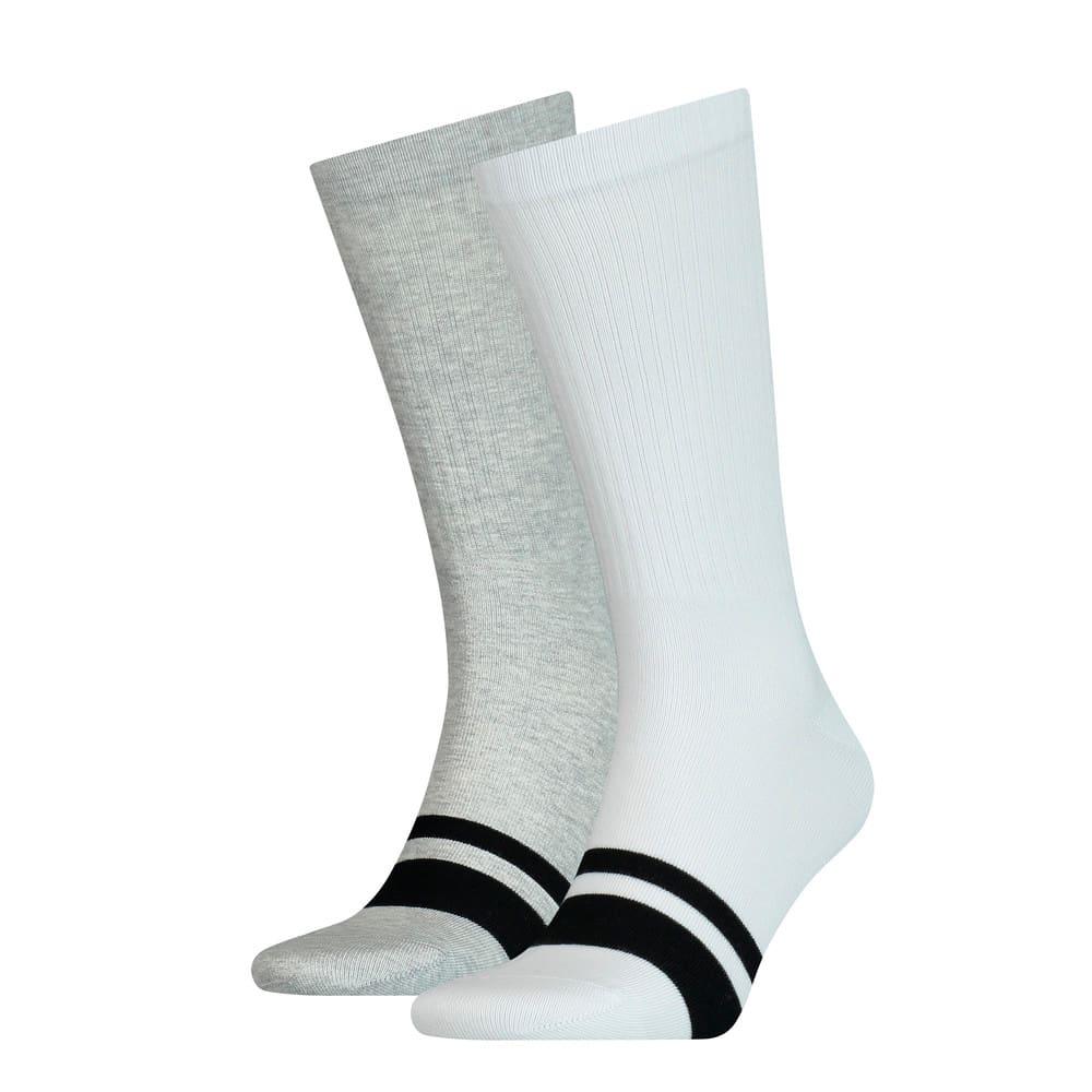 Изображение Puma Носки Seasonal Logo Men's Socks 2 Pack #1: white / grey
