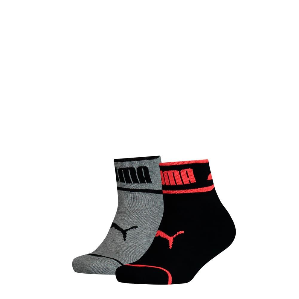Изображение Puma Детские носки Seasonal Logo Youth Quarter Socks 2 Pack #1