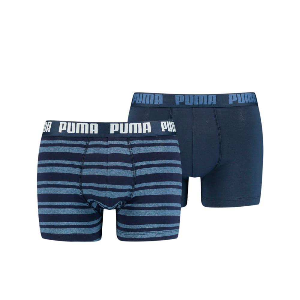 Зображення Puma Чоловіча спідня білизна Heritage Stripe Men's Boxers 2 Pack #1