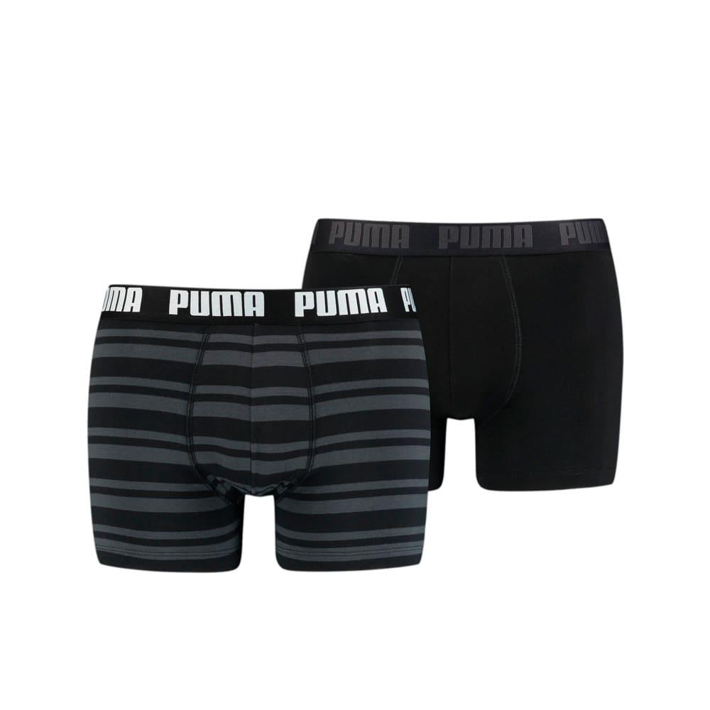 Imagen PUMA Boxers a rayas para hombre Heritage, paquete de 2 unidades #1