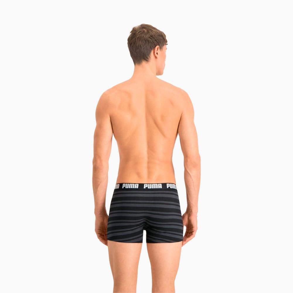 Изображение Puma Мужское нижнее белье Heritage Stripe Men's Boxers 2 Pack #2: black