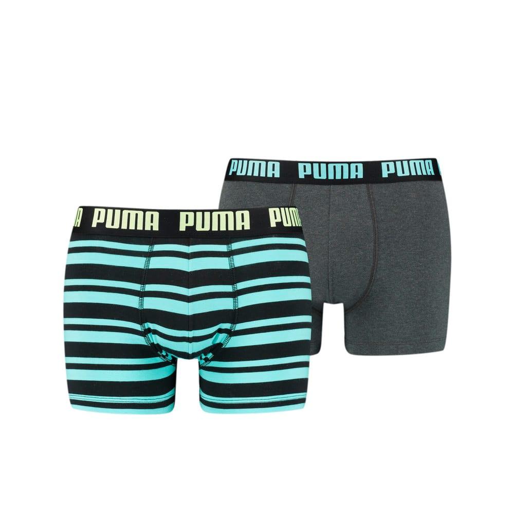 Изображение Puma Мужское нижнее белье Heritage Stripe Men's Boxers 2 Pack #1: blue / black