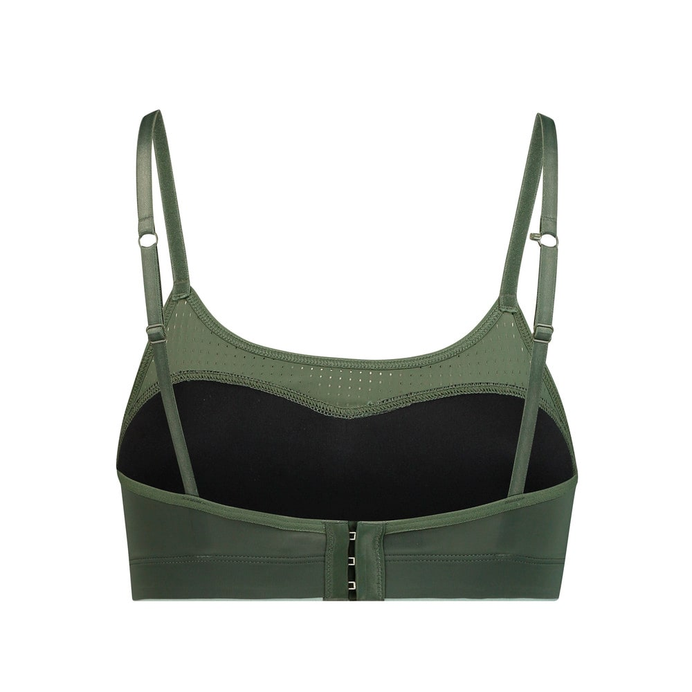 Изображение Puma Бра Microfibre Women's Padded Bralette 1 Pack #2: dark green combo