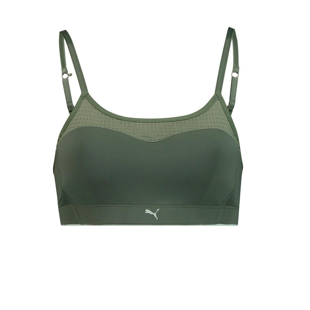 Изображение Puma Бра Microfibre Women's Padded Bralette 1 Pack #1: dark green combo