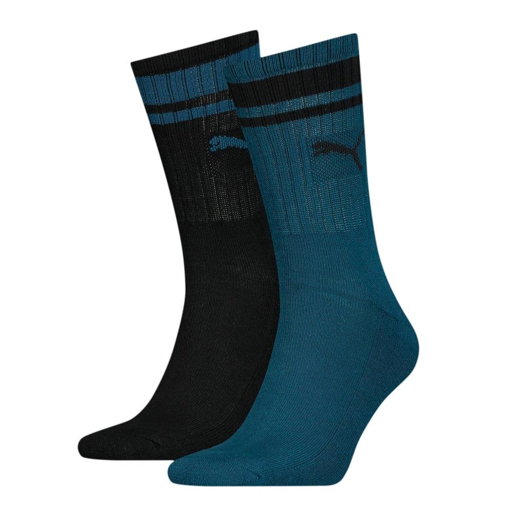 Зображення Puma Шкарпетки Unisex Crew Heritage Stripe Socks 2pack #1: blue / black