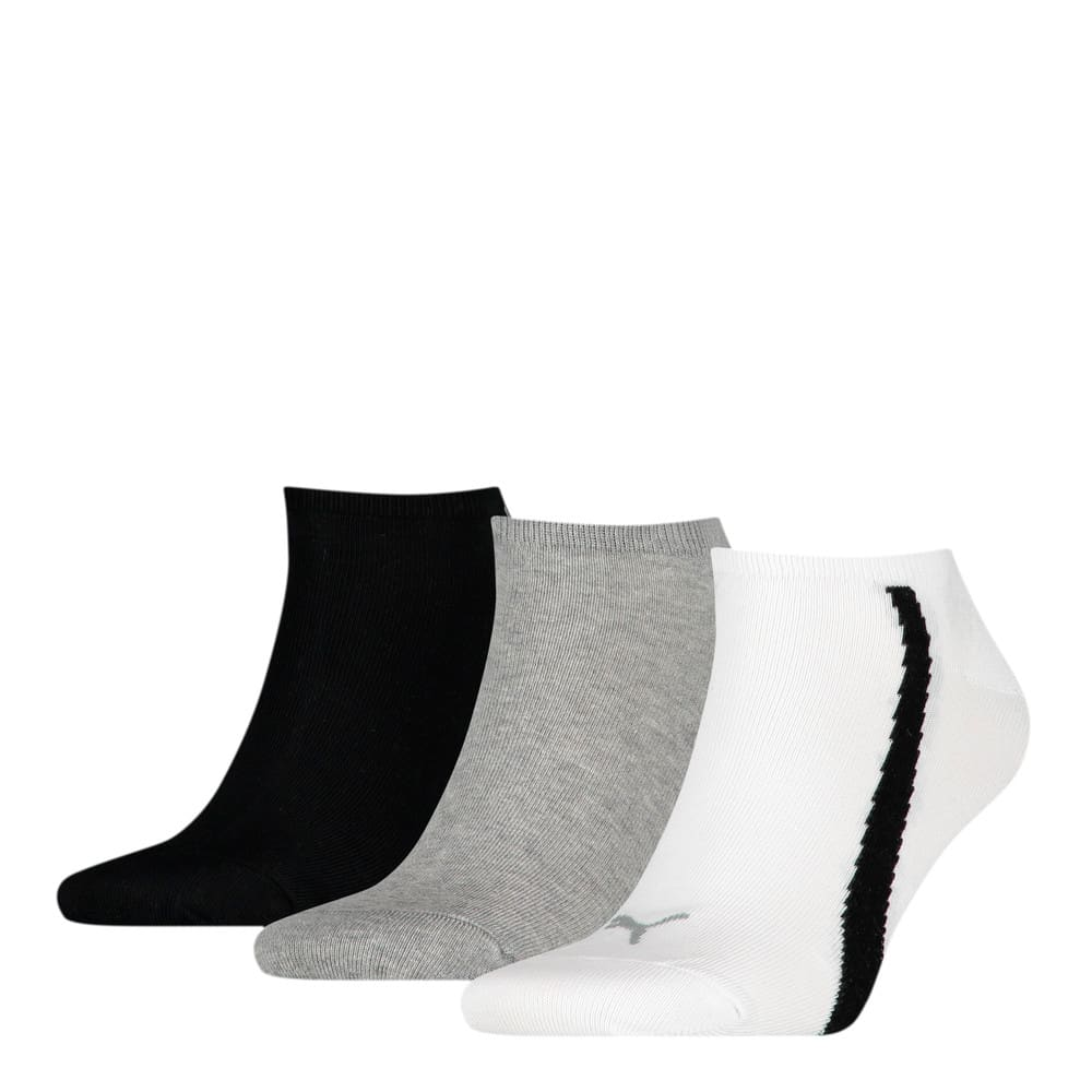 Изображение Puma Носки Unisex Lifestyle Sneaker Socks 3pack #1: white / grey / black