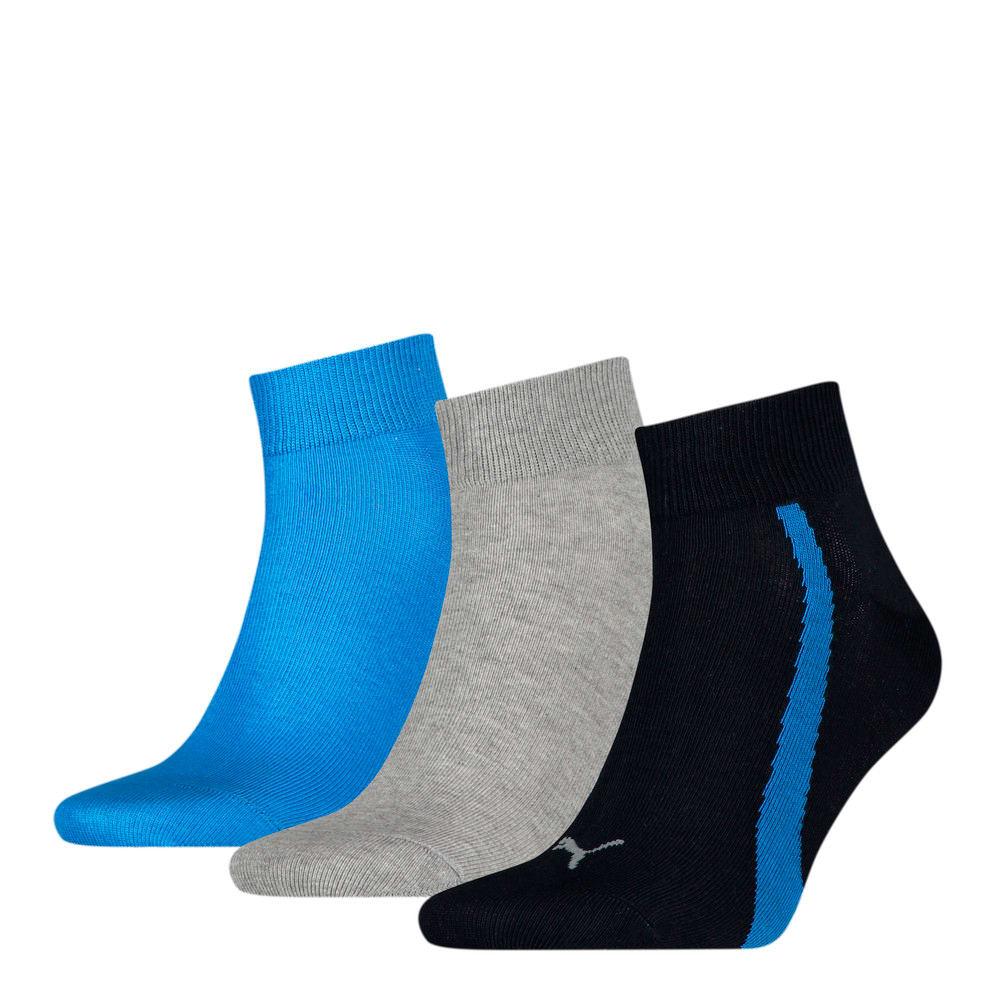 Изображение Puma Носки Unisex Lifestyle Quarter Socks 3 pack #1: navy / grey / strong blue
