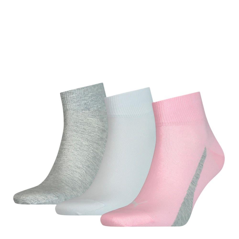 Изображение Puma Носки Unisex Lifestyle Quarter Socks 3 pack #1: basic pink