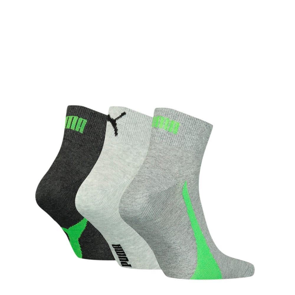 Изображение Puma Носки Unisex Lifestyle Quarter Socks 3 pack #2: black/green/grey
