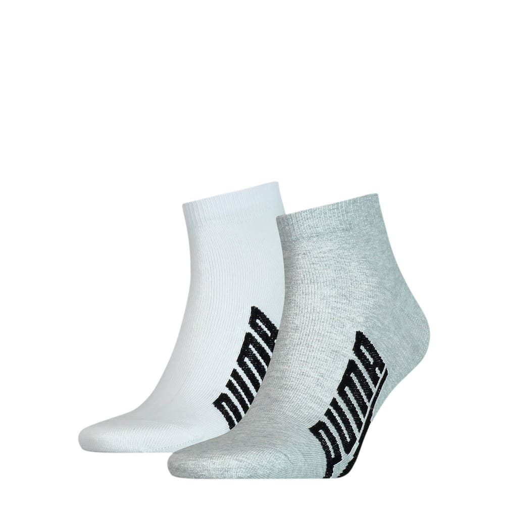 Зображення Puma Шкарпетки Unisex BWT Lifestyle Quarter Socks 2pack #1: white / grey / black