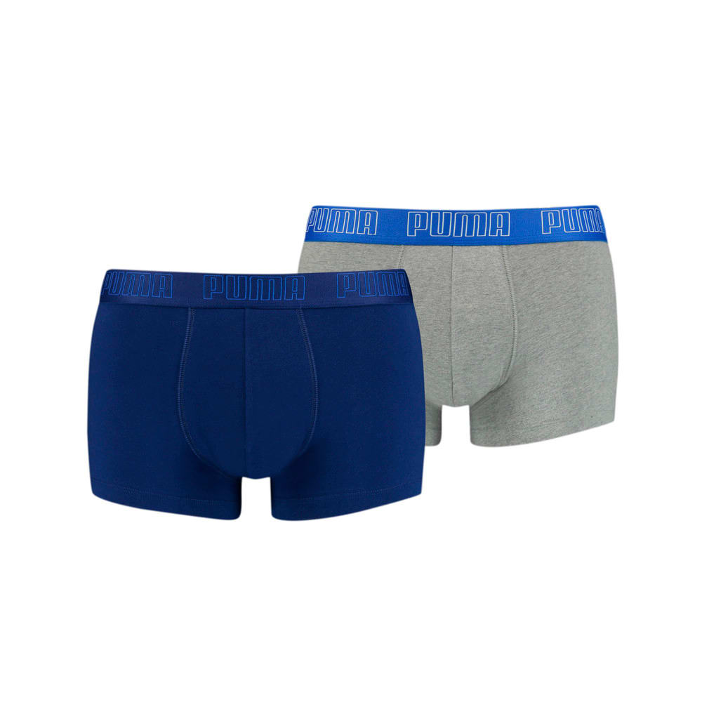 Зображення Puma Чоловіча спідня білизна Basic Men's Trunks 2 pack #1: blue / grey melange