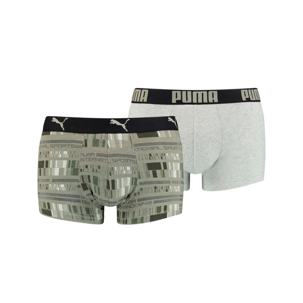 Зображення Puma Чоловіча спідня білизна  Men's All-Over-Print Trunk 2 pack #1