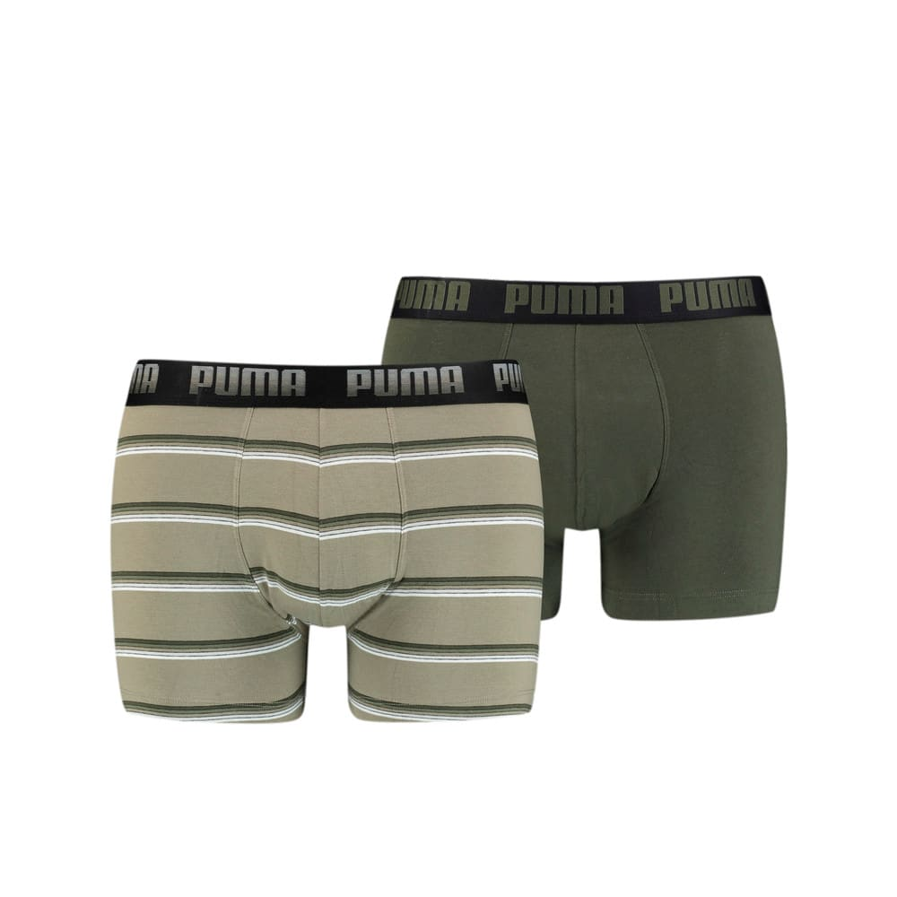 Изображение Puma Мужское нижнее белье Men's Gradient Stripe Boxer 2 Pack #1
