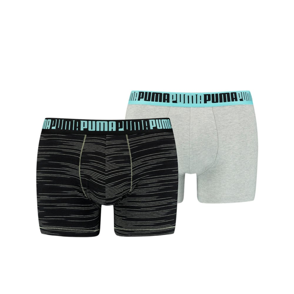 Изображение Puma Мужское нижнее белье Men's Space-Dye Stripe Boxer 2 Pack #1