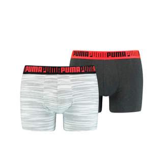 Изображение Puma Мужское нижнее белье Men's Space-Dye Stripe Boxer 2 Pack