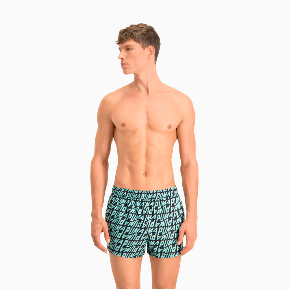 Изображение Puma Шорты для плавания Swim Men's Wave All-Over-Print Short Swimming Shorts #1