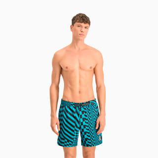 Изображение Puma Шорты для плавания Swim Men's PsyGeo All-Over-Print Mid Swimming Shorts