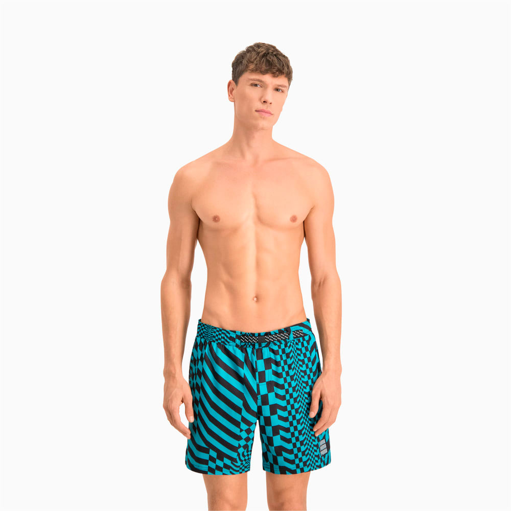 Зображення Puma Плавальні шорти Swim Men's PsyGeo All-Over-Print Mid Swimming Shorts #1: blue combo