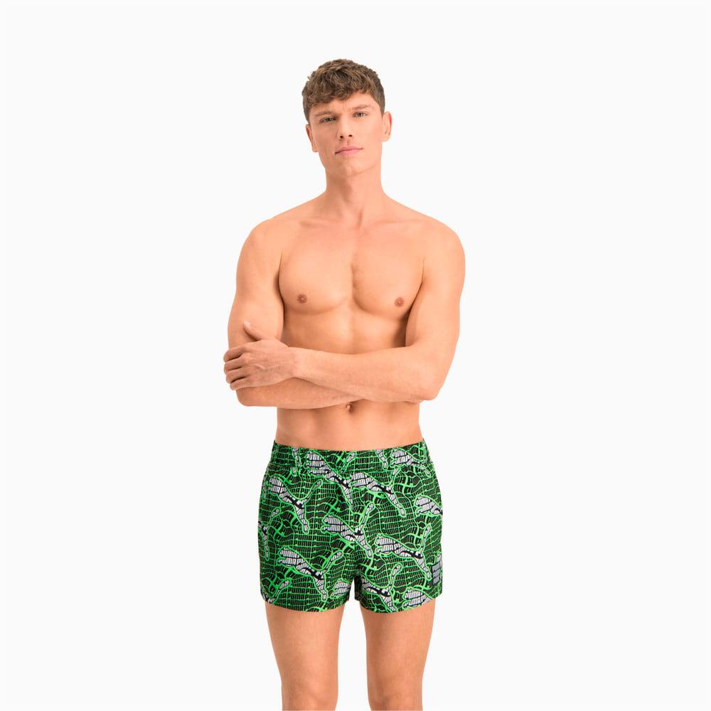 Изображение Puma Шорты для плавания Swim Men's Cat Logo All-Over-Print Short Shorts #1