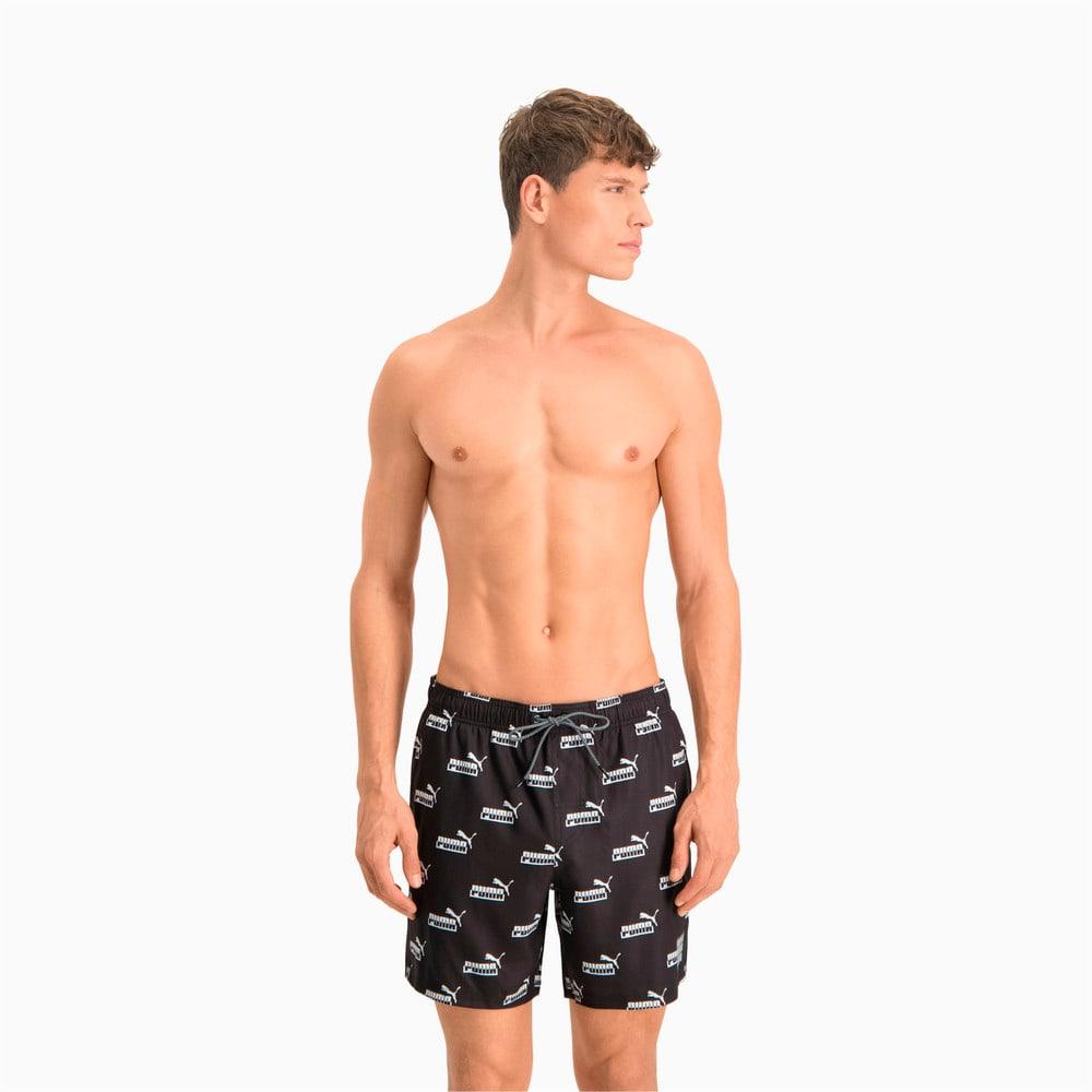 Изображение Puma Шорты для плавания Swim Men's No. 1 Logo All-Over-Print Mid Shorts #1